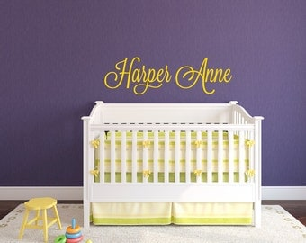 Nursery Wall Decal - Name Wall Decal - Baby Girl Nursery Wall Decal - Girls Name Wall Decal - Girl Wall Decal