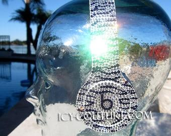 Swarovski BEATS Custom ZEBRA Bling bedazzled with Crystals