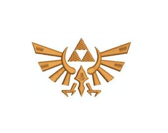 Machine Embroidery Design Instant Download - Legend of Zelda Royal Crest