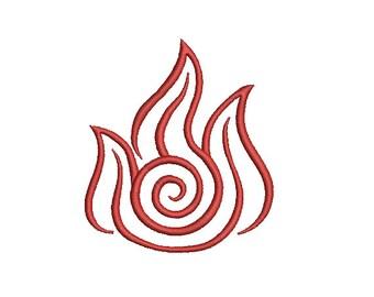 Machine Embroidery Design - Avatar Fire Element