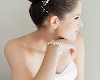 Bridal Hair Comb, Bridal Hairpiece, Freshwater Pearl Hairpiece, Bridal Hair Comb, Bridal Head Piece