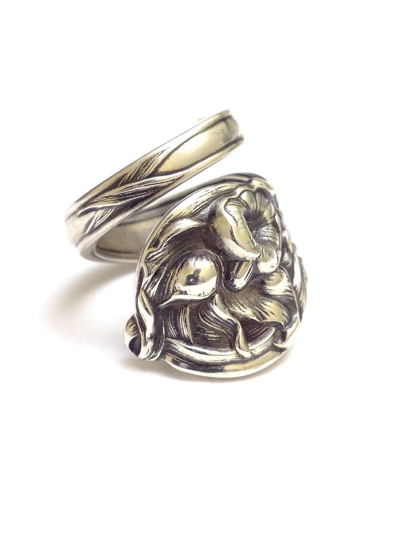 sterling silver spoon ring circa 1900 by cypressstudio on etsy