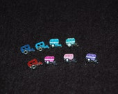 Vintage Camper Traveling Trailer Charm - Fits Origami Owl Lockets - Many Colors to Choose From