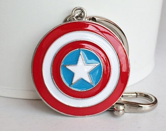 SUPERHERO Captain America Shield Key Chain Bag Charm KC61A