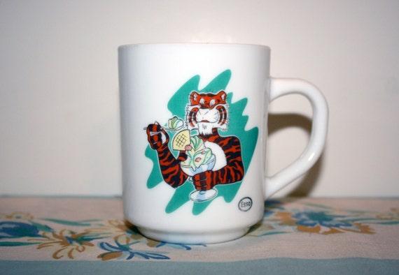 Esso Tiger coffee Mug 1960s by HippAntiques2 on Etsy