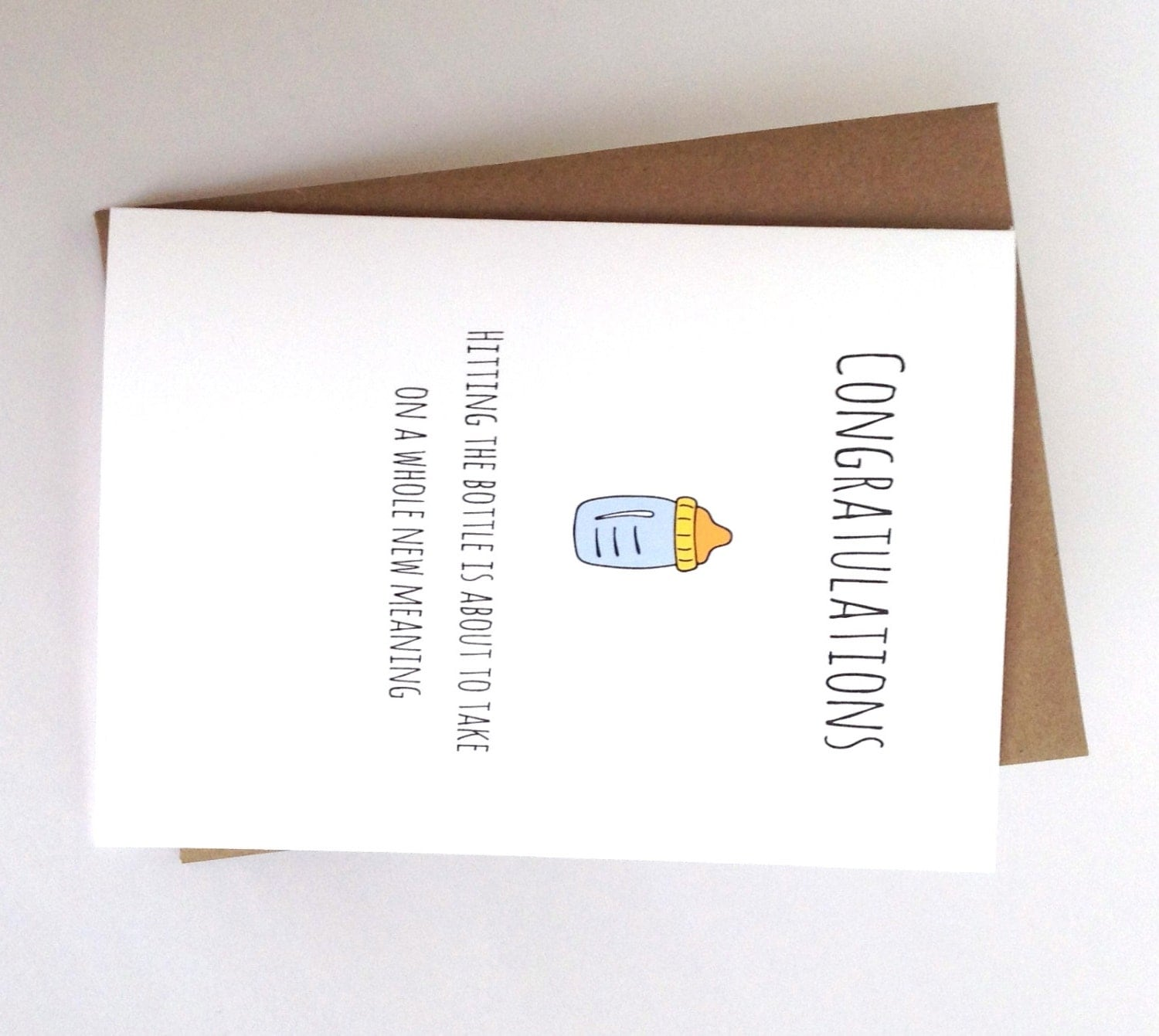 funny baby congratulations card baby shower by spellingbeecards