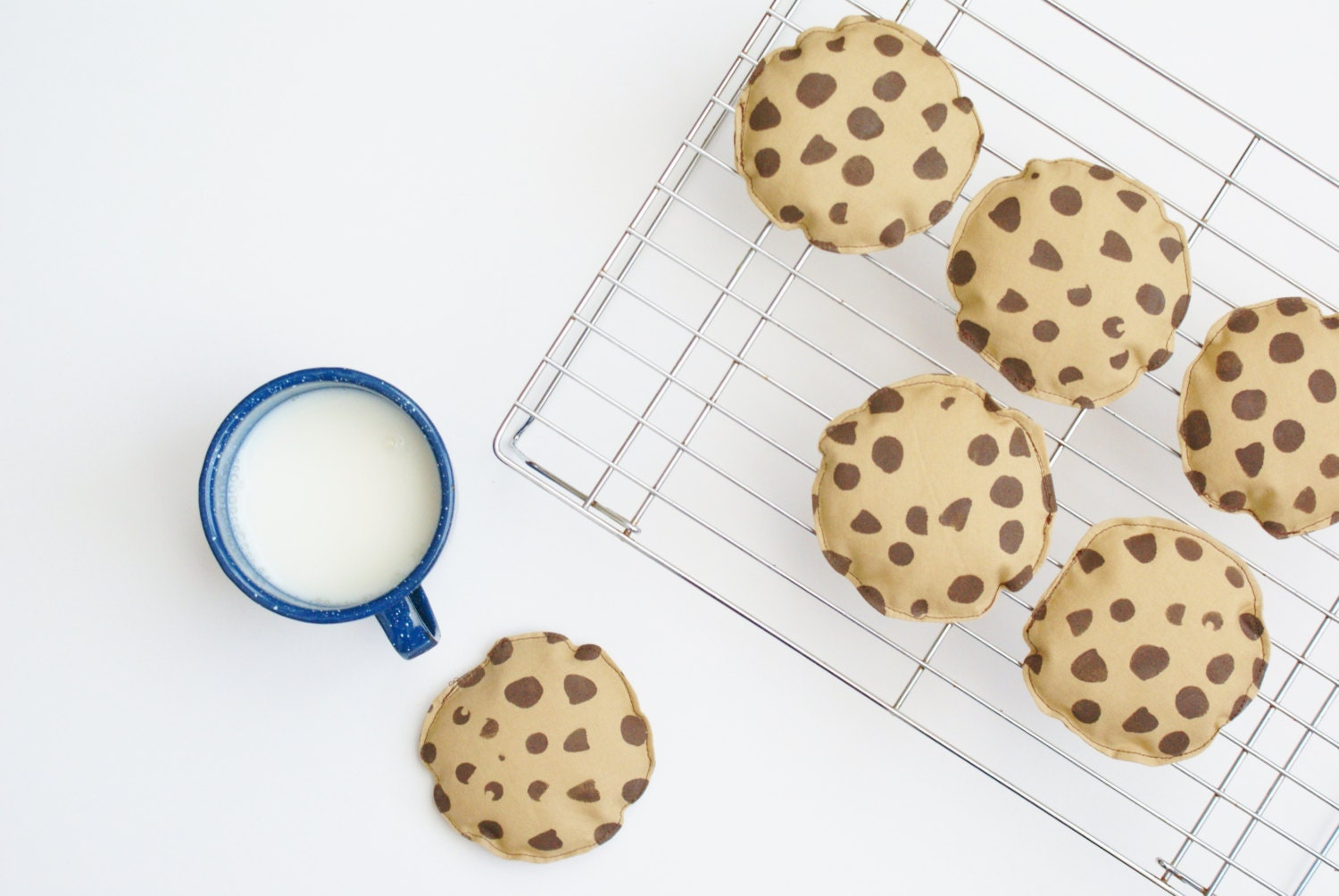 Chocolate chip cookie bean bags set of 3 4 by for Hand shaped bean bags