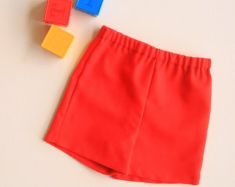 Red shorts trousers pants for baby toddler boy