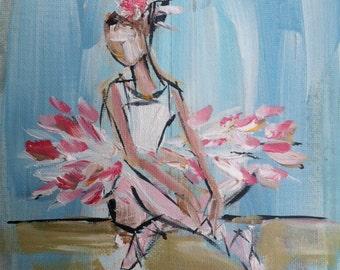 Ballerina Print abstract pink coral