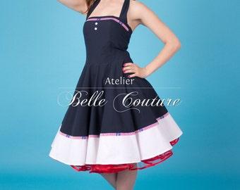 "Custom Made & Handmade - Pinup Sailordress ""Ahoi"""