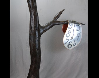 Large Metal Tree Sculpture Melted Clock By Jacob Novinger Inspired By Salvador Dali