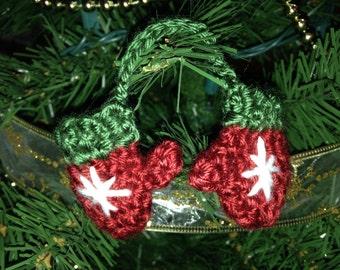 Mini Mittens Christmas Ornament