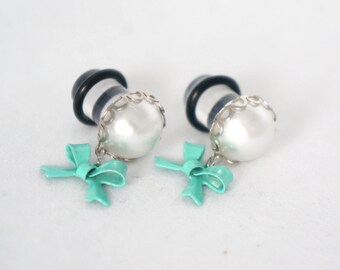 Pearl Ear Plugs Gauges 8g 6g 4g 2g 0g 00g Cute 2mm-10mm