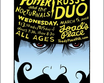 Grace Potter poster with mustache by David Lasky