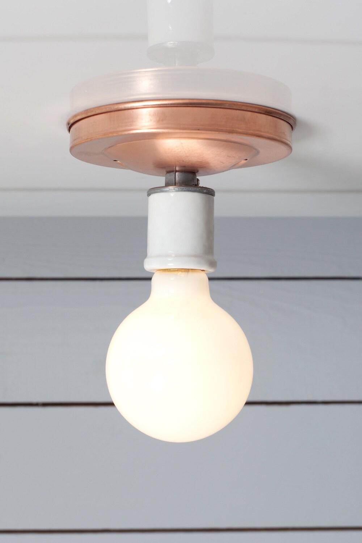 Ceiling Lights Copper : Copper ceiling light bare bulb lamp