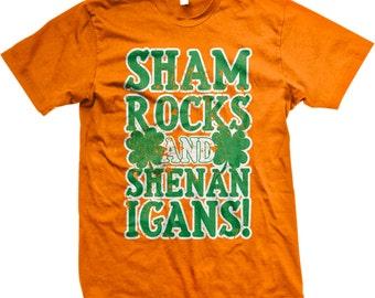 Shamrocks and Shenanigans T-shirt St. Patrick's Day Shirt 4 Leaf Clover Tshirt, St Patricks Day Men's T-Shirts GH_01350_tee