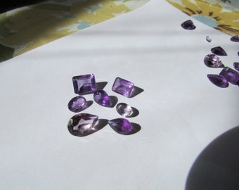 12.50cts Amethyst Faceted Gemstones