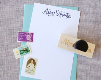 Custom Calligraphy Name Stamp