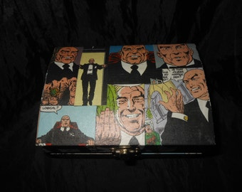Lex Luthor Hand Decorated Small Storage Chest