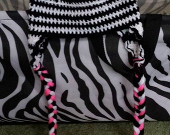 6-9 month Zebra Hat