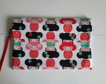 White and Red kawaii shelves pouch