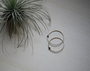 Sterling silver ring with tiny silver dot, handmade, stacking ring, knuckle ring