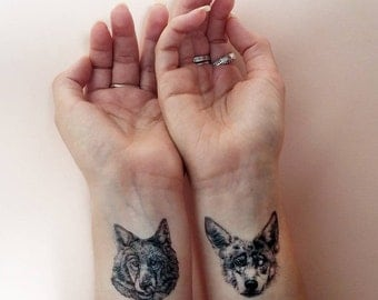 Wolf Pack // Temporary Tattoos