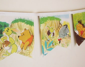 Winnie the Pooh meets Gopher - Little Golden Book Bunting.