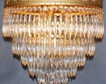 1940s 5 Tier Waterfall Birthday Cake Chandelier