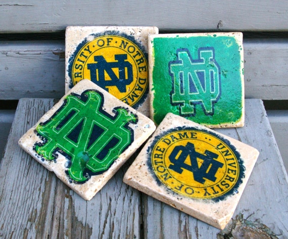 Notre Dame Drink Coasters/ Fighting Irish/ By