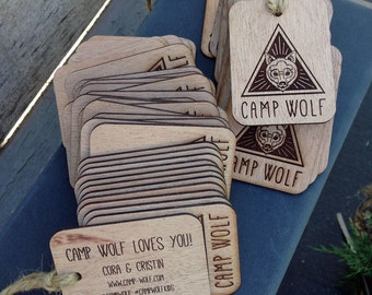 Double-Sided Custom Wooden Gift Tag/Product Label