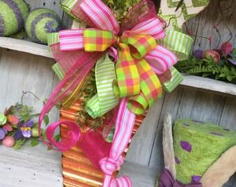 Easter Wreath, Carrot Wreath, Spring Wreath, Easter Carrot door swag, Front door Carrot Swag