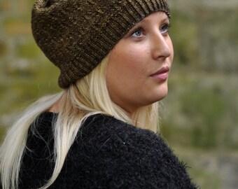 Woodland Slouch Hat PDF knitting pattern (instructions)