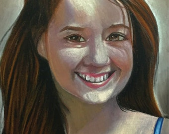 "Custom Portrait in Pastel 9"" x 6"""