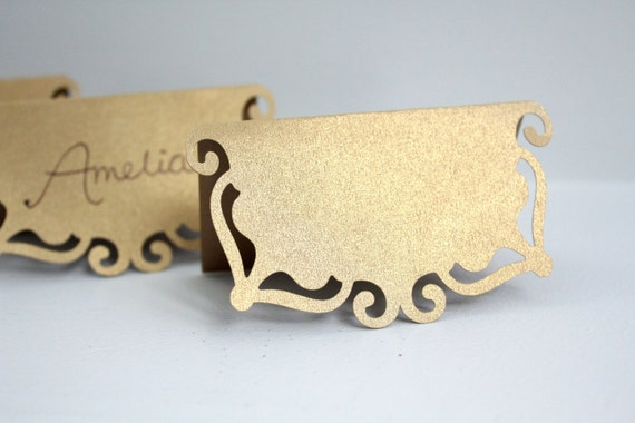 Metallic Gold Place Cards Shimmer Wedding