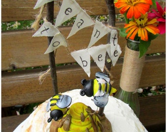 Meant To Bee Wedding Cake Topper, Bee Hive Wedding Cake Topper, Bee Wedding, Honey Bee Cake Topper