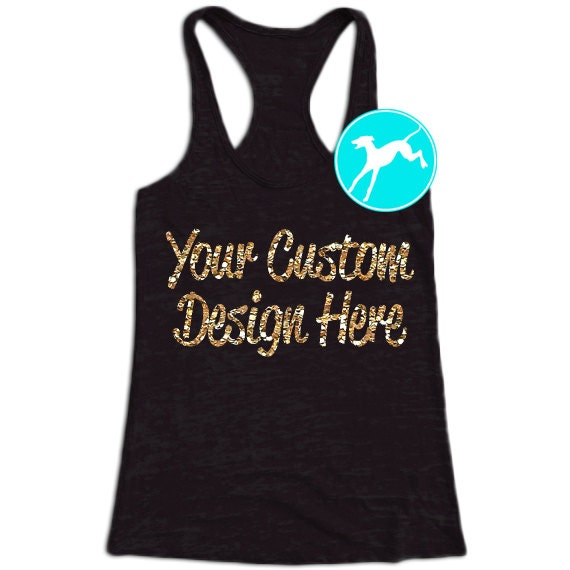 workout tank create your own custom design burnout by ForDesign Your Own Workout Shirt