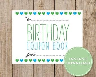 Handmade coupon book for husband
