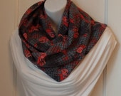 FIP11 12: Fabric Infinity Puffy Scarf (The Walking Dead, Flannel) FREE SHIPPING