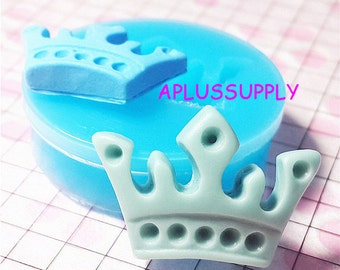 FYL016 Crown Silicone Flexible Push Mold, Jewelry Charms Cupcake (Clay Fimo Casting Resins Epoxy Wax Soap Gum Paste Fondant)