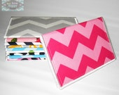 Business Card Holder Chevron Fabric ~ gift card holder ~ Mini Wallet ~ Teen Wallet ~ credit card holder ~ gift for her ~ gift for teacher