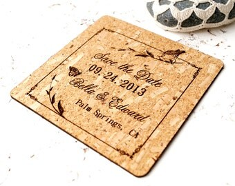 Save the dates, wedding save the date cards, rustic save the dates, cork save the dates, vineyard, woodland, farm, barn wedding cards