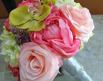 Pink Wedding Bouquet, Rose Wedding bouquet, Orchid Wedding bouquet