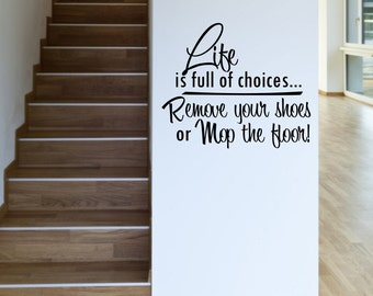 Remove Your Shoes Etsy - How to remove wall decals