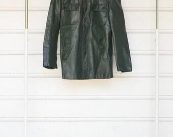 Forrest Green Leather Jacket