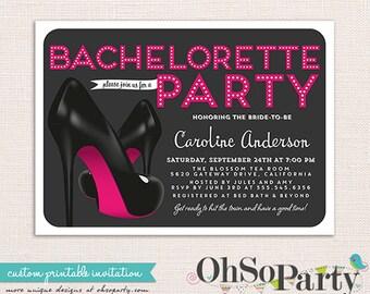 HIGH NIGHTS Custom Bachelorette Invitation Card