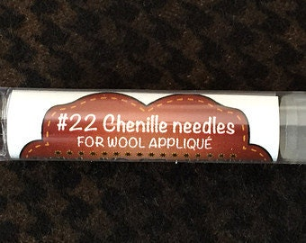 Notions: Chenille Needles for Wool Applique #22, Tube of 12 by Primitive Gatherings
