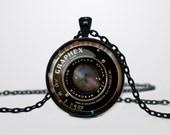 Camera lens pendant Vintage grahpex pendant Vintage Camera lens necklace (NOT an actual Camera lens, just picture)