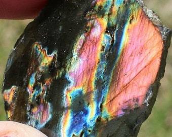 Labradorite Double Polished Madagascar High Quality Small