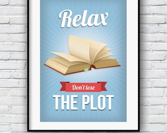 Motivational quote, Inspirational quote, Wall art, Life quote, poster, Funny poster, Book print